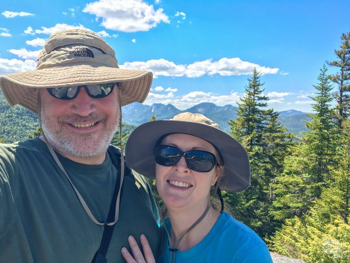 Selfie on top of Round Mountain in the Adirondacks