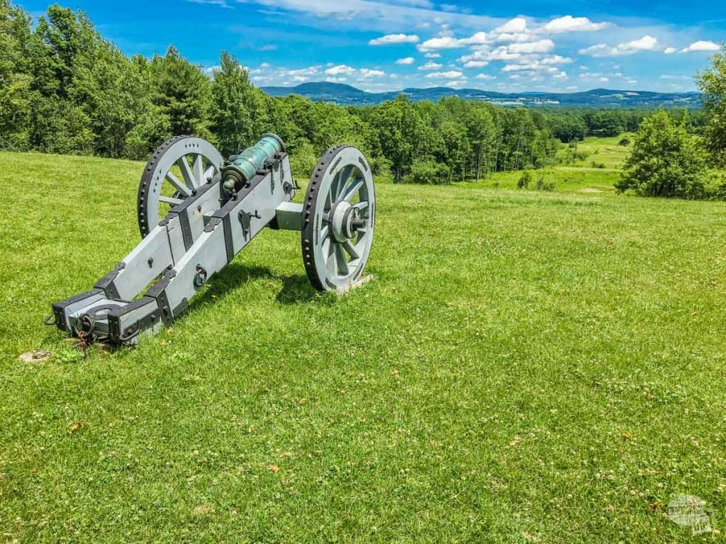 The Patriots held the high ground at Saratoga, forcing the British into devastating fields of fire.