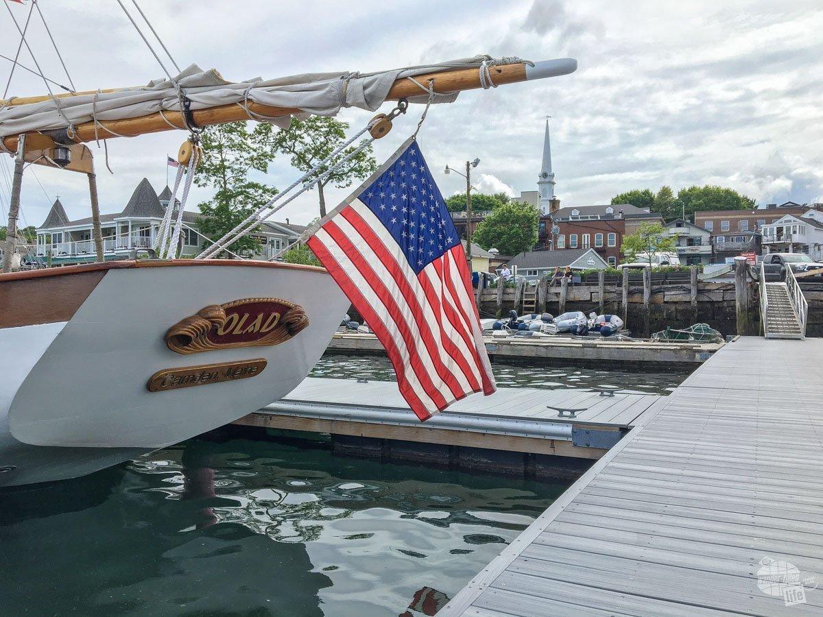Schooner Olad in Camden Harbor