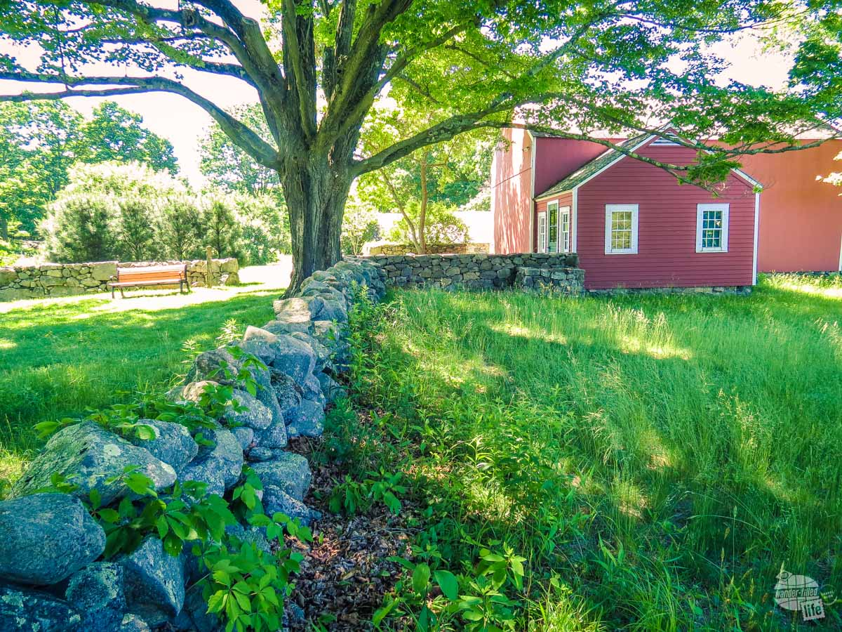 Stone fence at Weir Farm National National Historical Park.