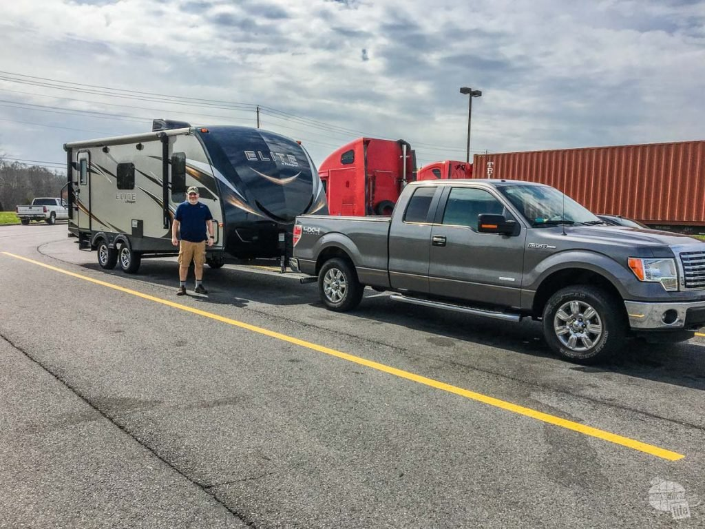 Taking our new RV home.