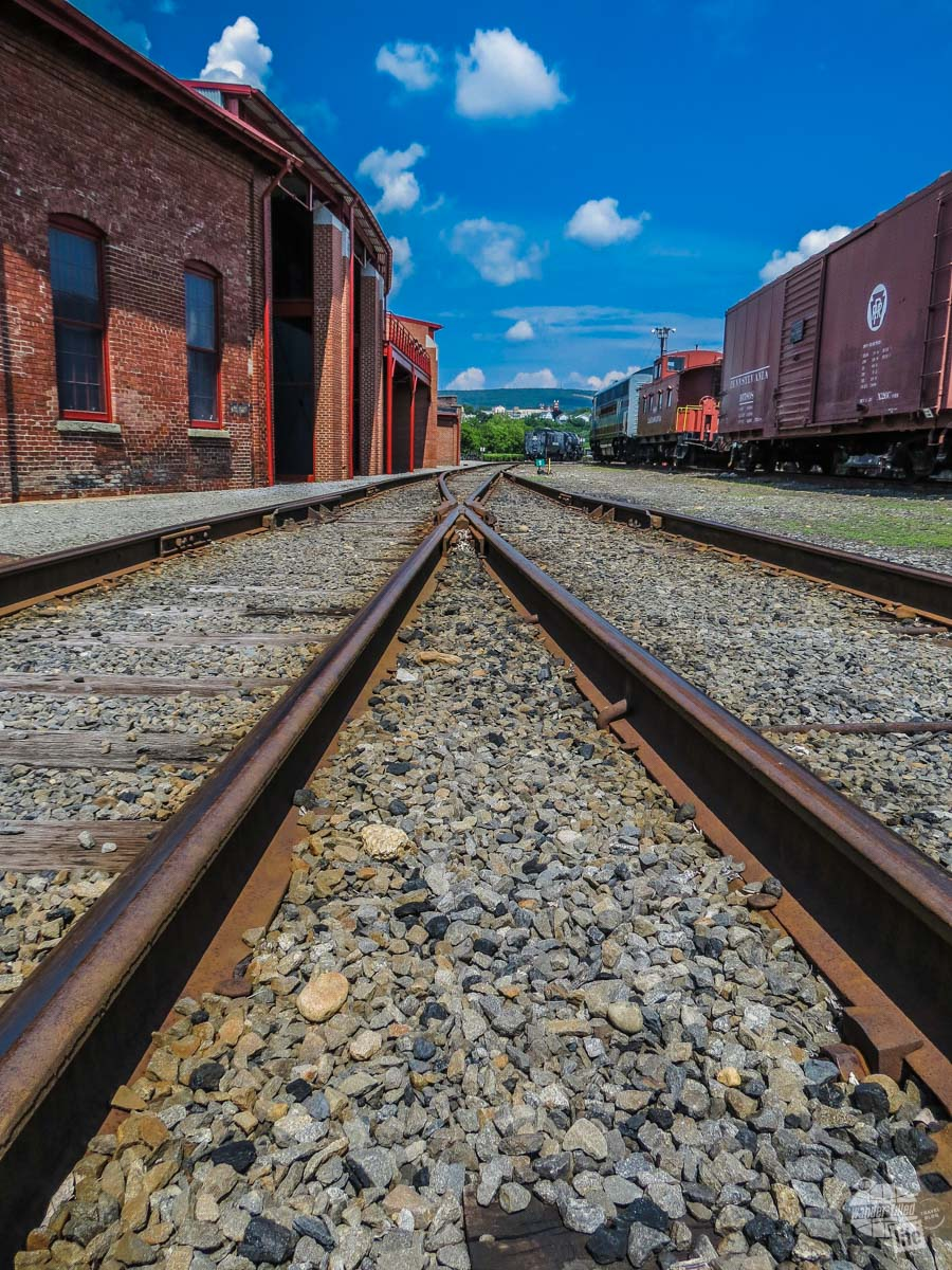The tracks at Steamtown