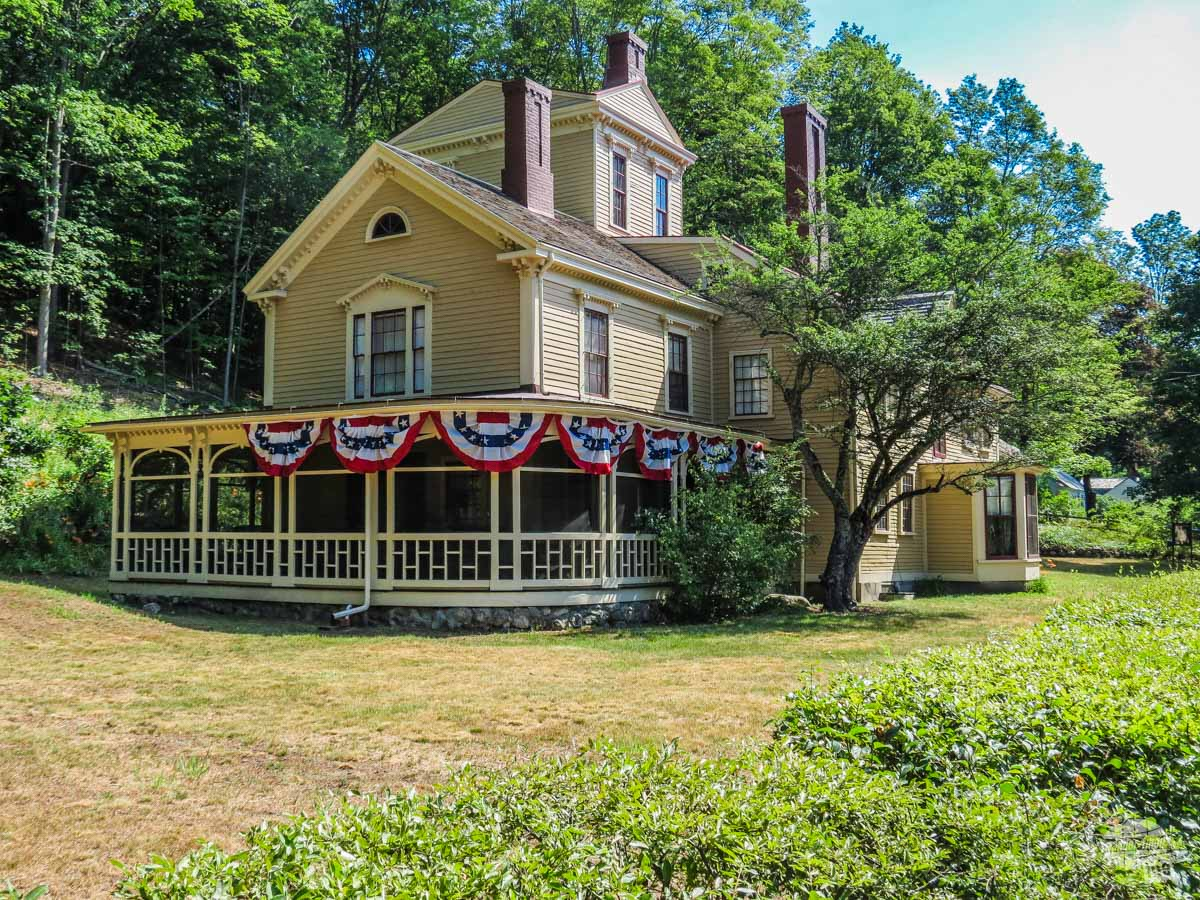 The Wayside, home of, at various times, Samuel Whitney, Louisa May Alcott and Nathaniel Hawthorne