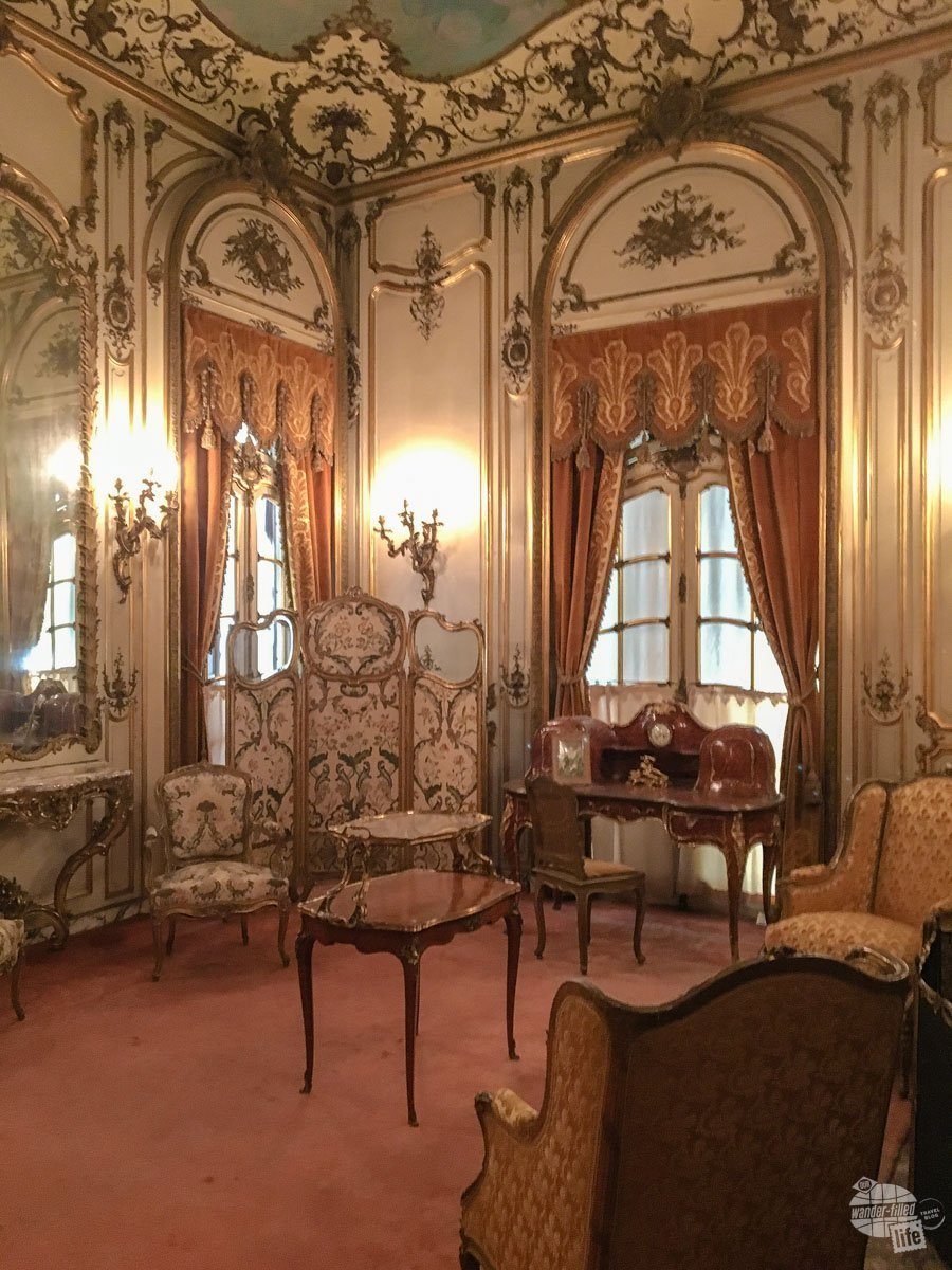 One of the many bedrooms in the Vanderbilt Mansion