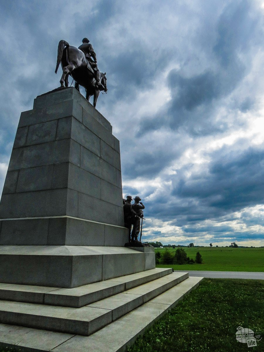 This monument, with Robert E. Lee seated on his horse, overlooks the field of Pickett's Charge.