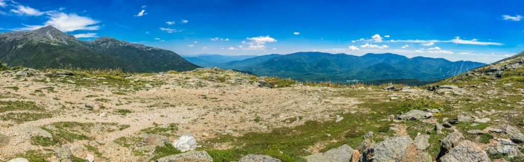 White Mountains of New Hampshire from Mt. Washington.