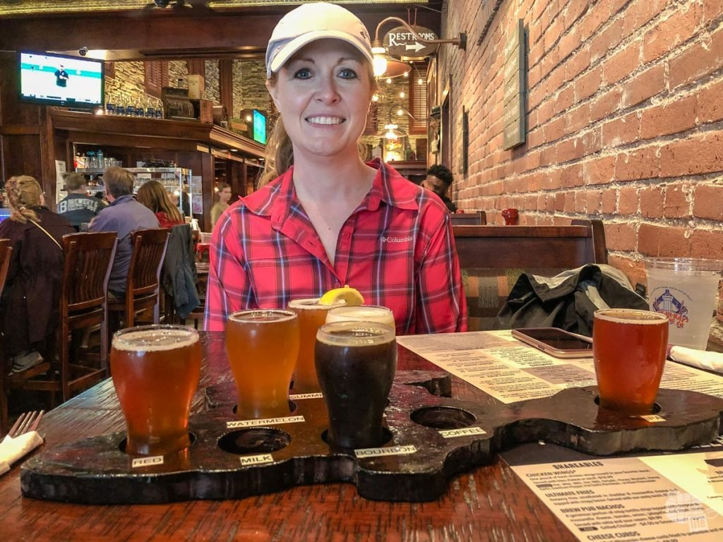 We sampled a flight of beer and the rum at the Put-in-Bay Brewery and Distillery.