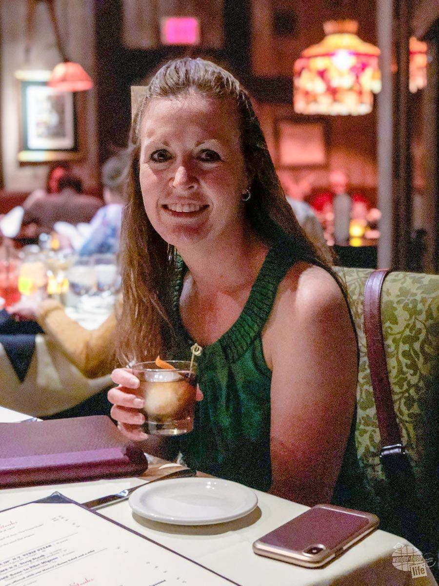 Bonnie's birthday dinner at Mancey's Steaks in Toledo.