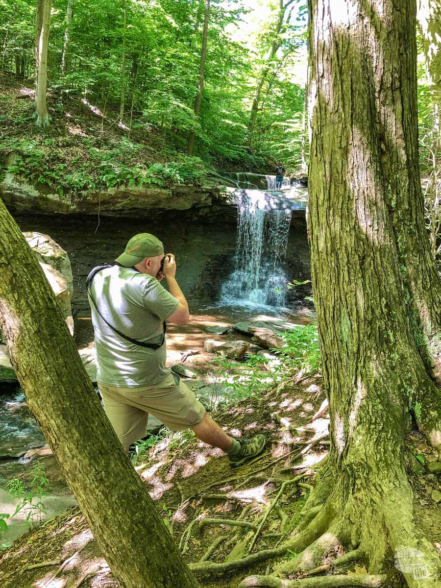 Blue Hen Falls at Cuyahoga Valley National Park.