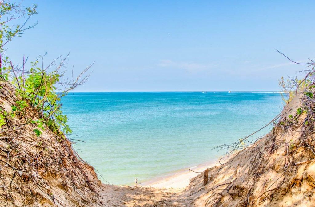 Lake Michigan at Indiana Dunes National Park.