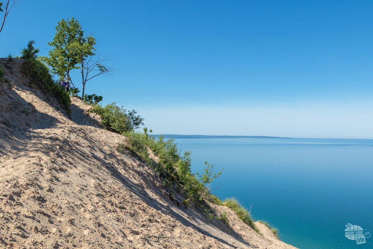 The sand dunes on the shores of Lake Michigan at Sleeping Bear Dunes National Lakeshore.