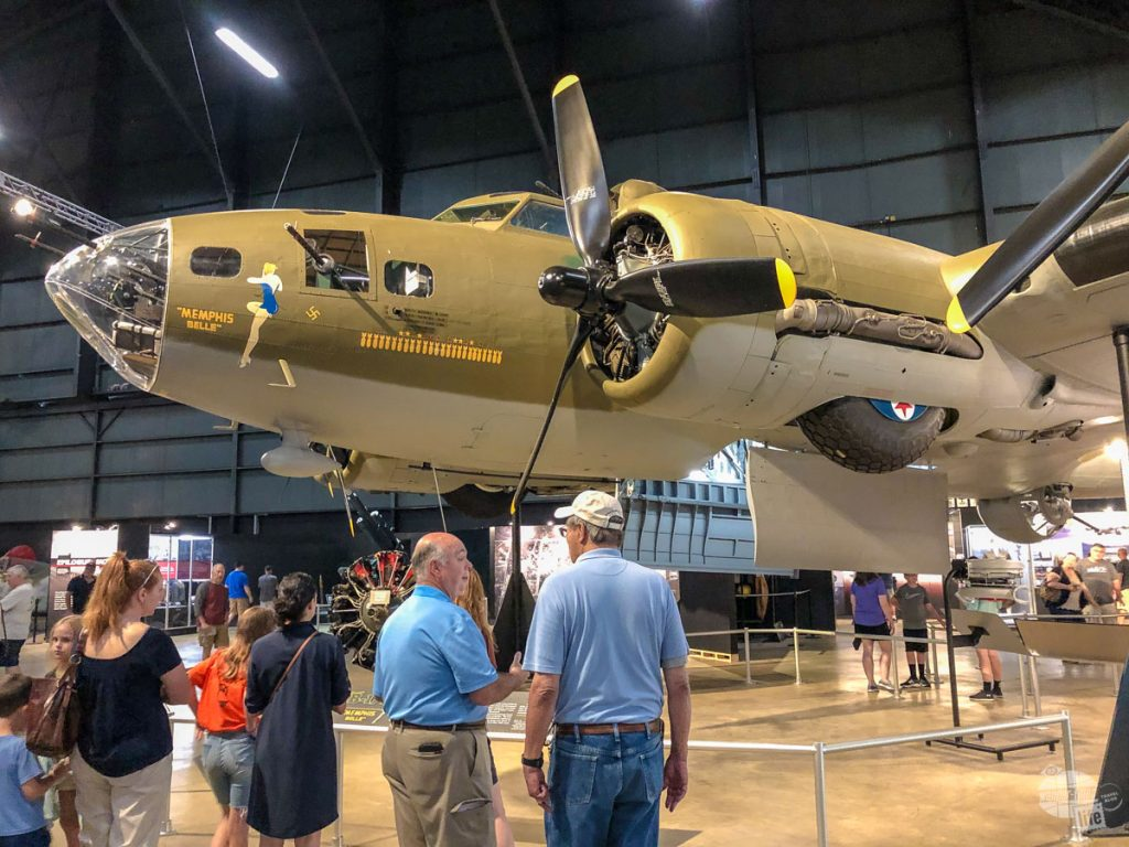 Yes, that is THE Memphis Belle, the famous WWII B-17 bomber, at the National Museum of the US Air Force.