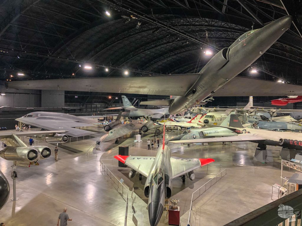 In just one hanger, there are many of the marvels of the Air Force: the B-2 Spirit, the SR-71 Blackbird, the U-2, the B-1, the F-4 and even an F-16 from the Thunderbirds.