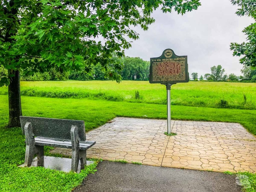 There's not a lot to the River Raisin National Battlefield Park other than a small visitor center and a short path overlooking the field where the battle happened.
