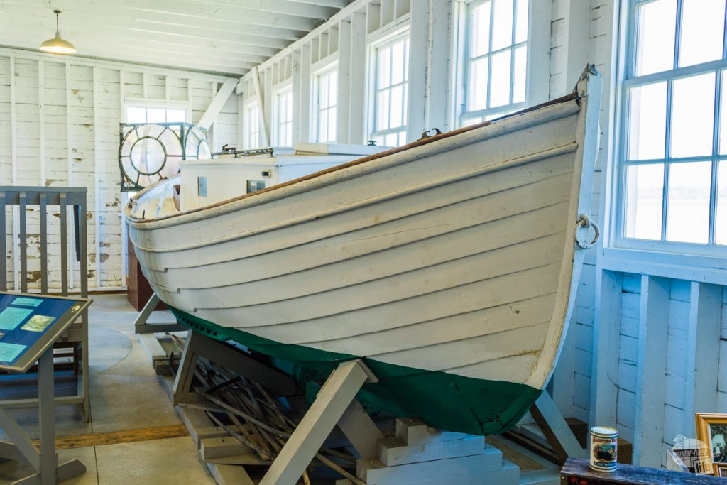 The old cannery, which was used to can local fruit, is now a museum for boats used in the area.