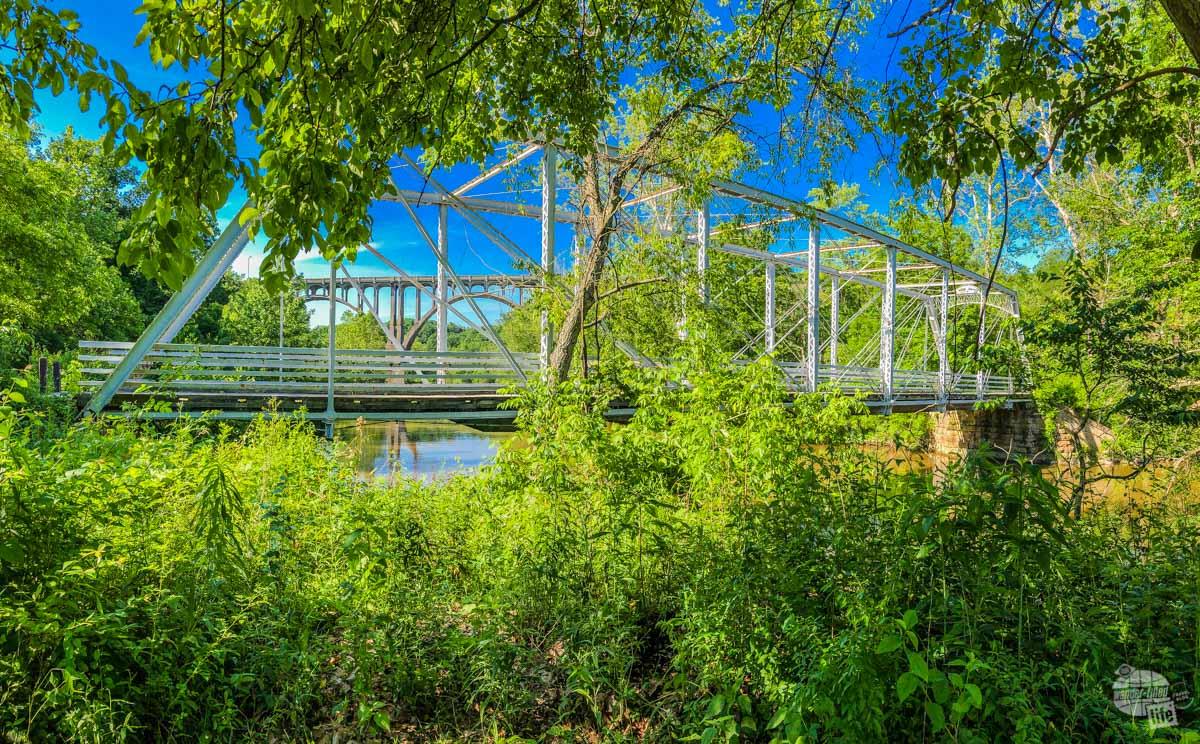 Bridges across the Cuyahoga River.