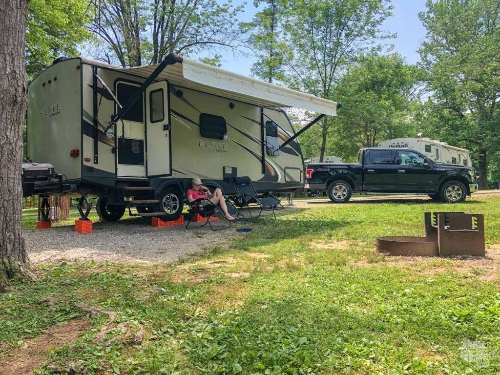 Lincoln State Park campsite
