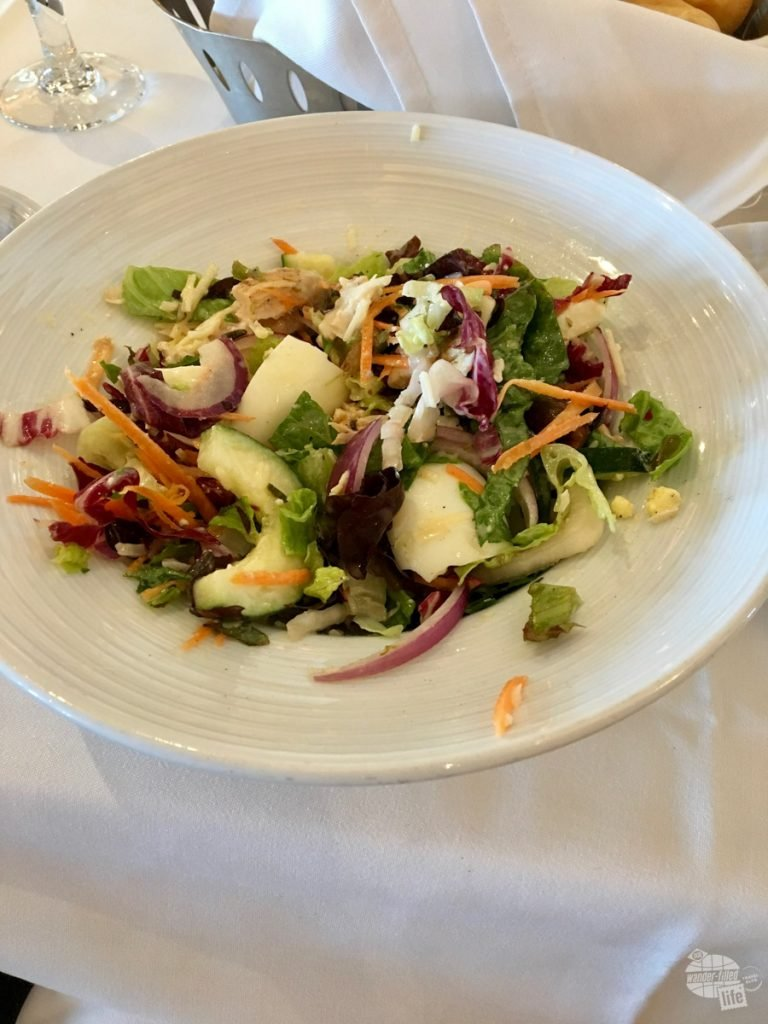 The entree salad from the lunch service in the main dining room. Cruise tip: the main dining room aboard Royal Caribbean ships is absolutely great for breakfast and lunch... Much less crowded than the buffet.