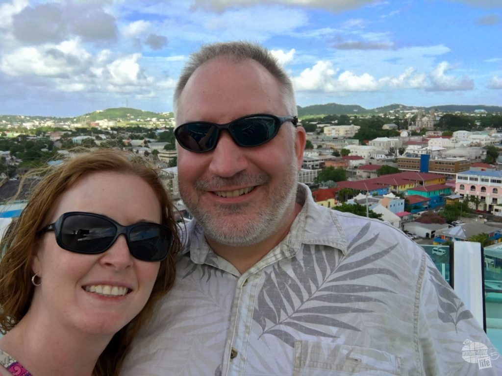 A quick selfie with St. John's in the background.