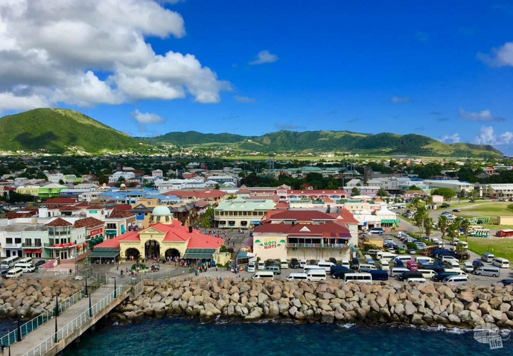 Overlooking the cruise port at St. Kitts