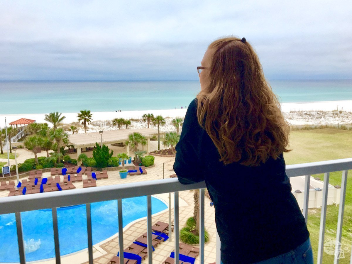 We got a great upgrade at the Hilton Pensacola Beach as Diamond members of Hilton Honors.