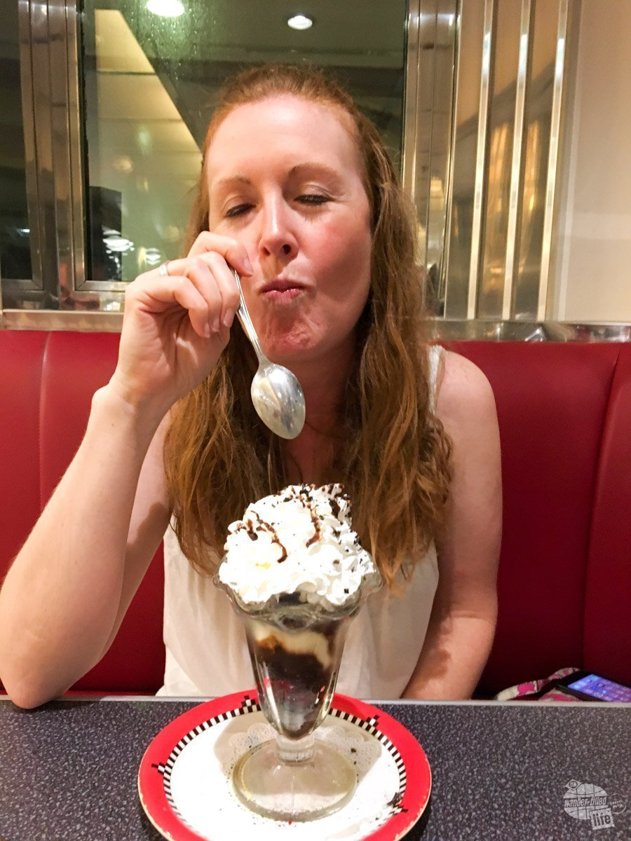 As evident by her face, Bonnie loves ice cream... or really anything sweet.