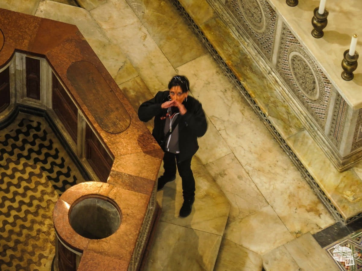 One of the cool features of the baptistery in Pisa is the acoustics and every hour or so, someone comes in to sing a few notes to demonstrate what it sounds like inside. When you go, be sure to time your visit to the baptistery to hear the demonstration.