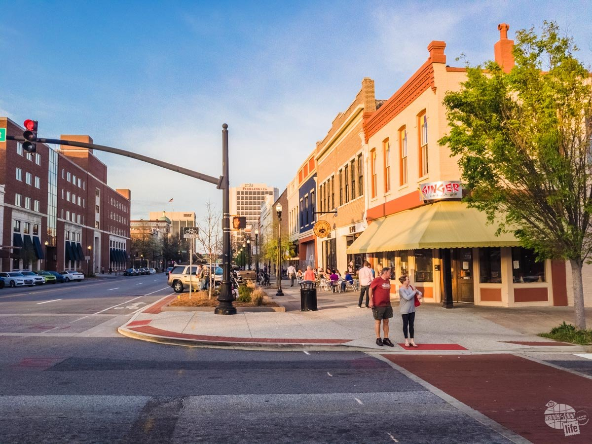Macon's downtown area is relatively large and undergoing a revitalization, with new businesses and residential units opening through out.