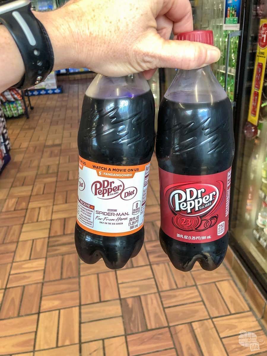 Picking up some Dr. Pepper at the gas station.
