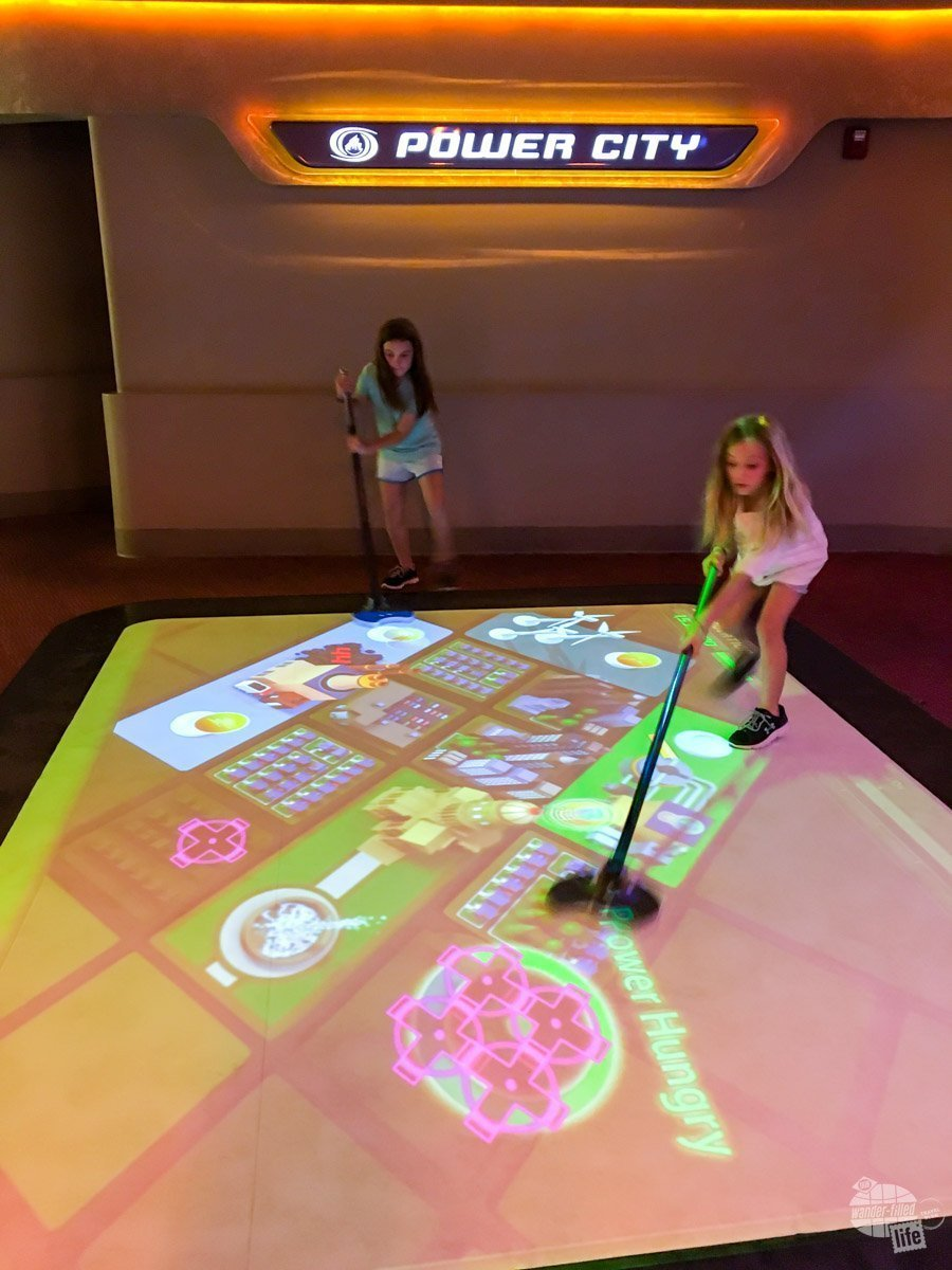 Many of the rides at Epcot have interactive games for the kids.