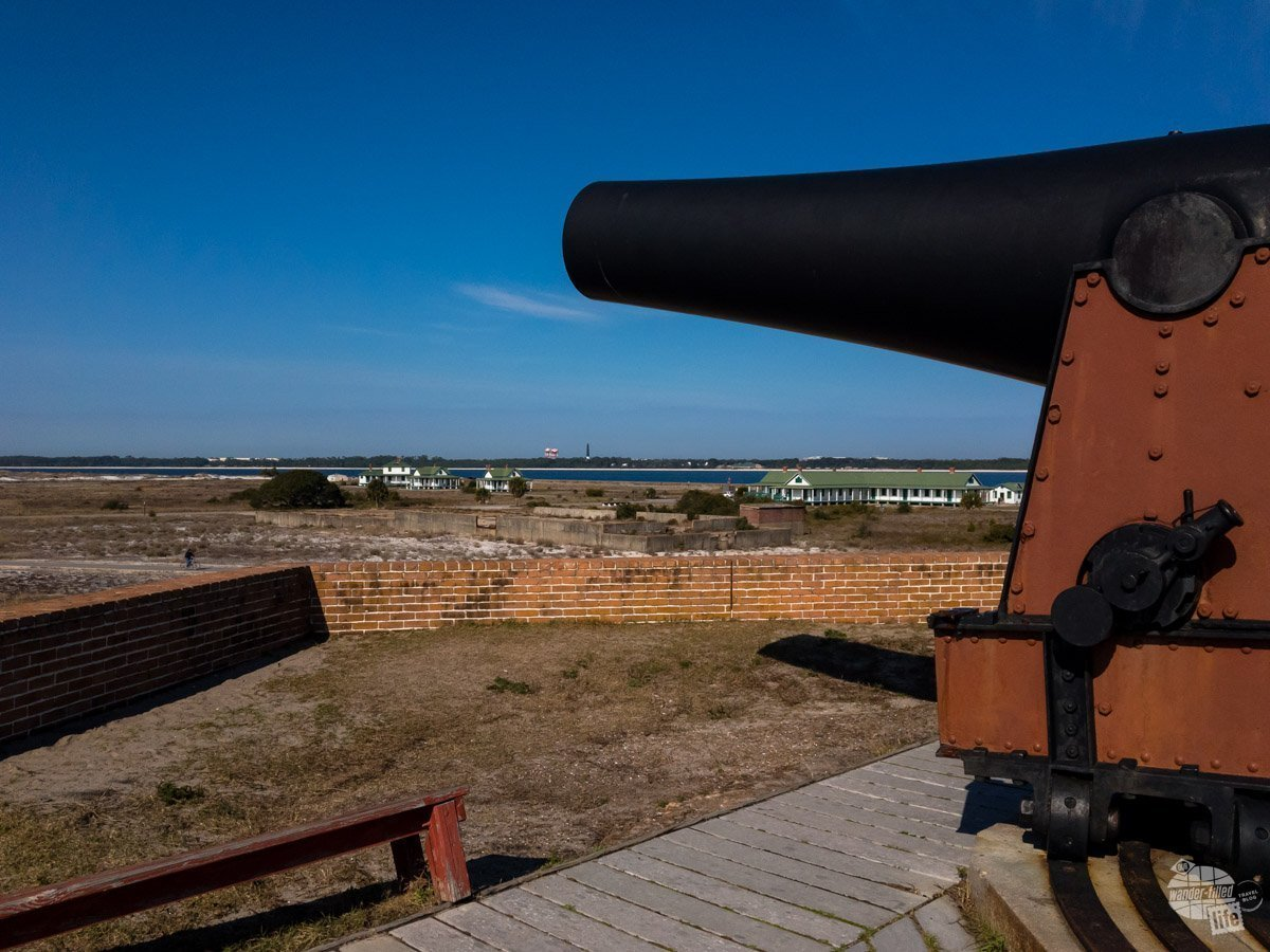 Fort Pickens protected Pensacola Bay and the Navy Yard from before the Civil War to World War II. You can see the lighthouse in the distance, which is not far from the Navy Yard.