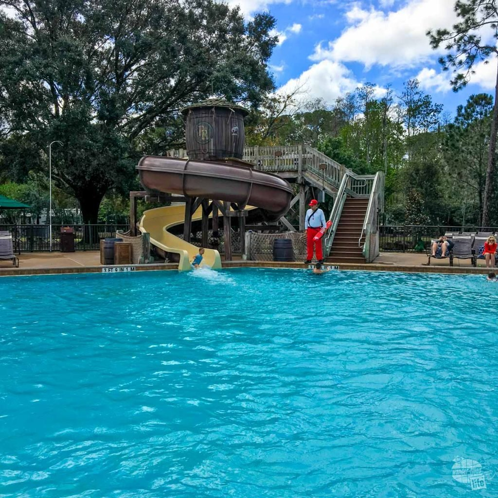 The pool at the Fort Wilderness Campground proved irresitable to the girls.
