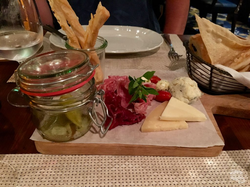 The meat and cheese plate at Giovanni's Table