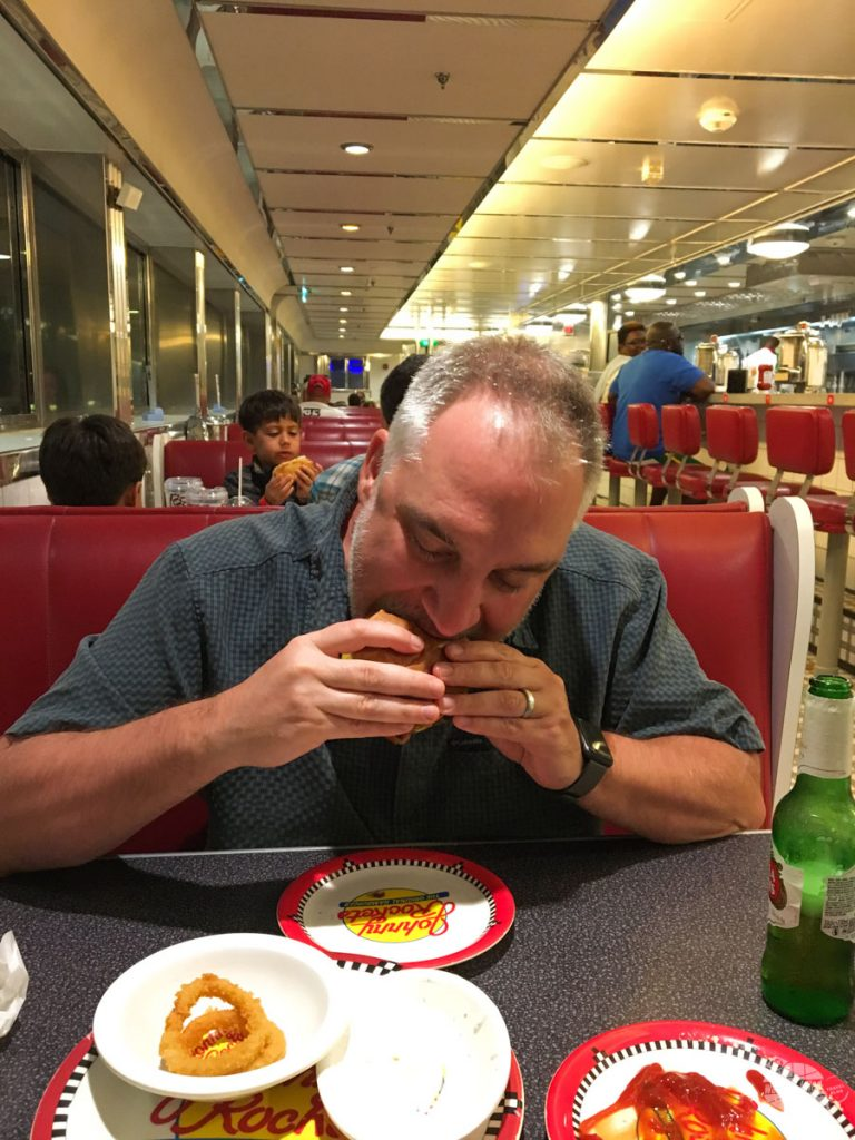 Johnny Rockets is a nice treat on a cruise.