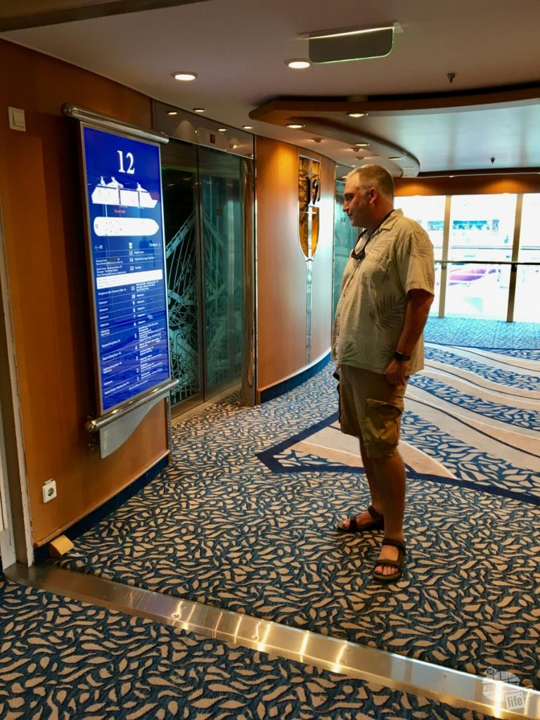 Adventure of the Seas got a fresh look with the 2016 refurbishment, including interactive maps.
