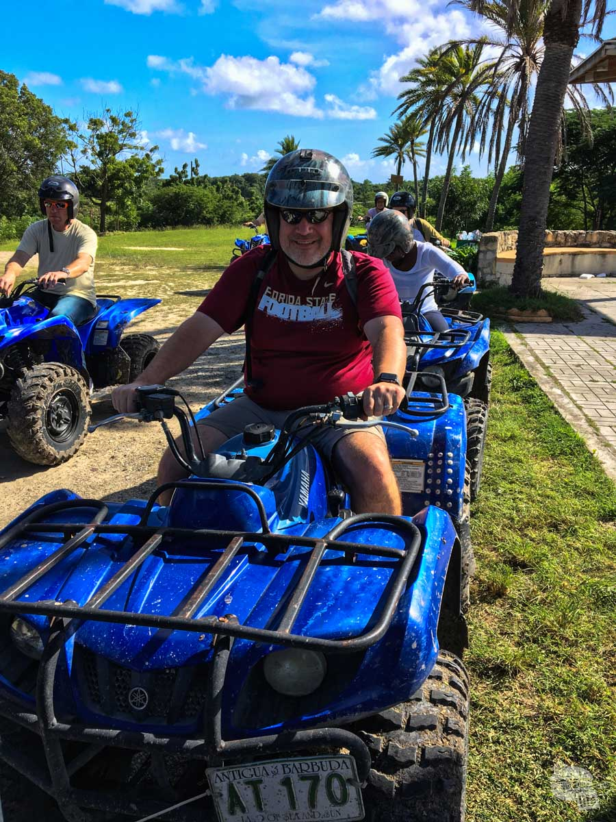 Grant riding on the ATV