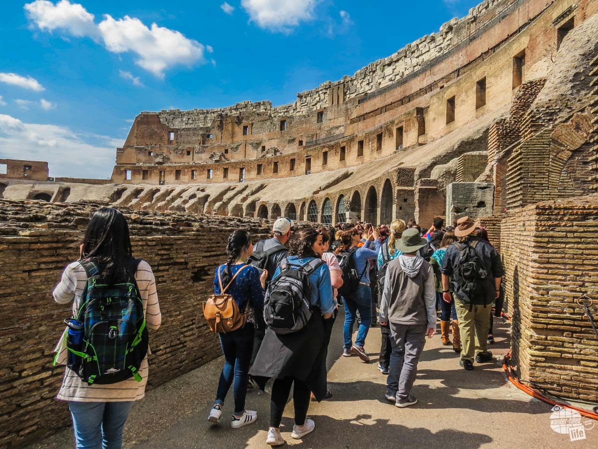Our group touring the Colosseum.