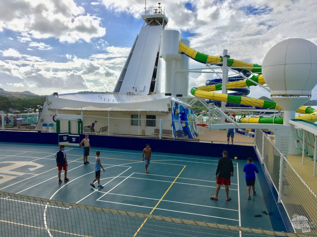 Basketball court on a cruise ship.