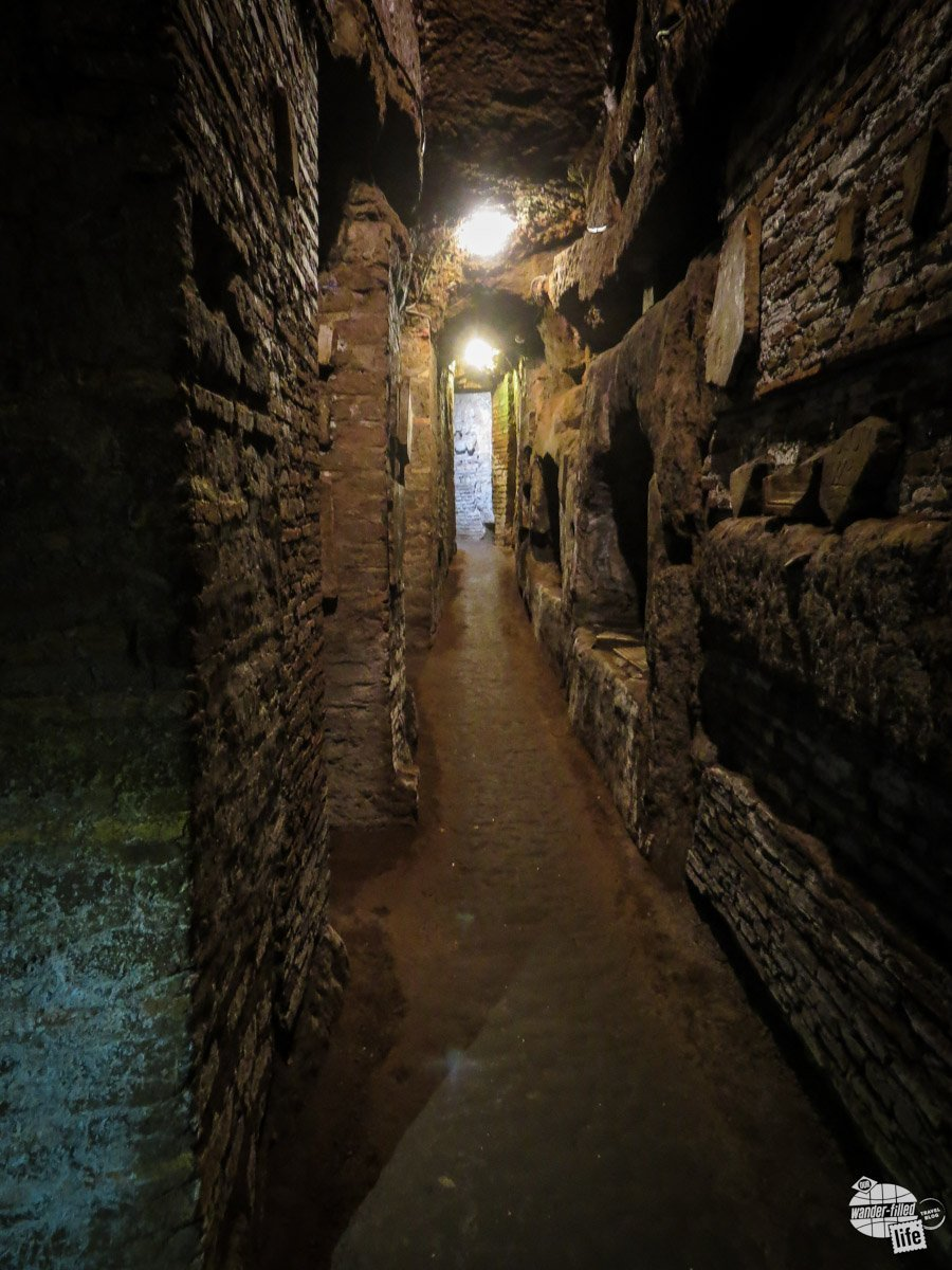 Inside the Catacombs of Santa Domatilla