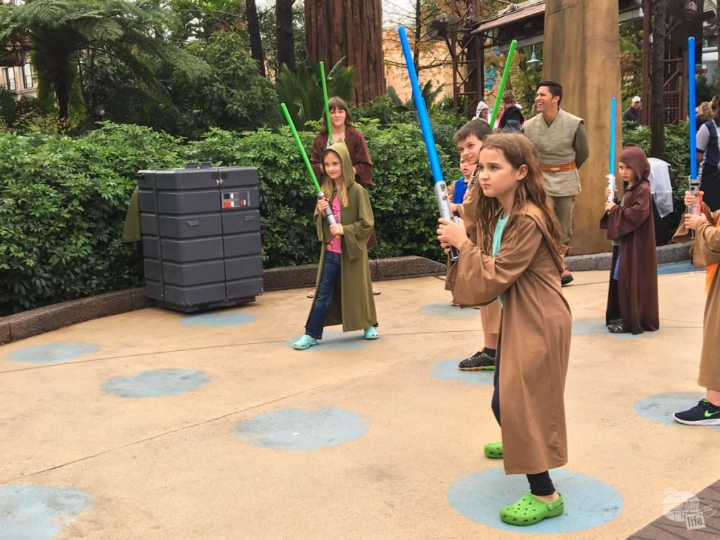 Our nieces learning the ways of the Force.