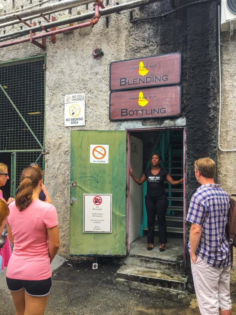 The Mount Gay Rum tasting tour takes visitors through the blending and bottling portion of the operation.