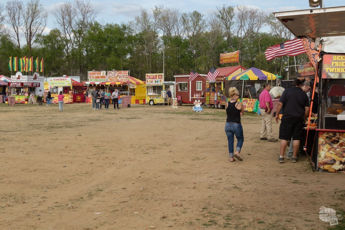 Like any good carnival, the festival grounds has plenty of food options.