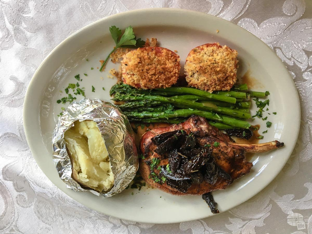 Bonnie's delicious smoked pork chop