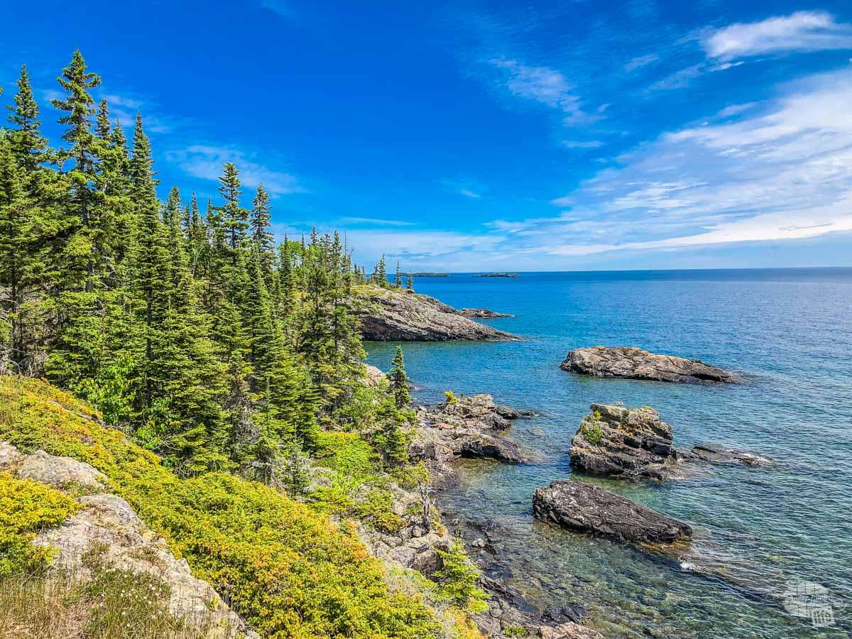 The rugged coast of Isle Royale National Park.