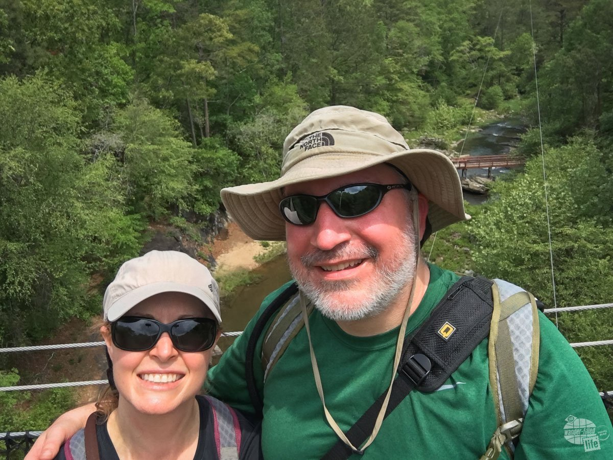 Selfie on the suspension bridge
