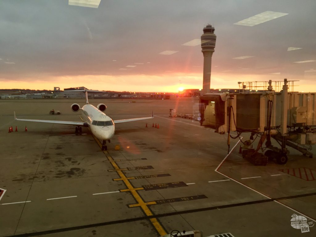 Sunrise at the Atlanta airport
