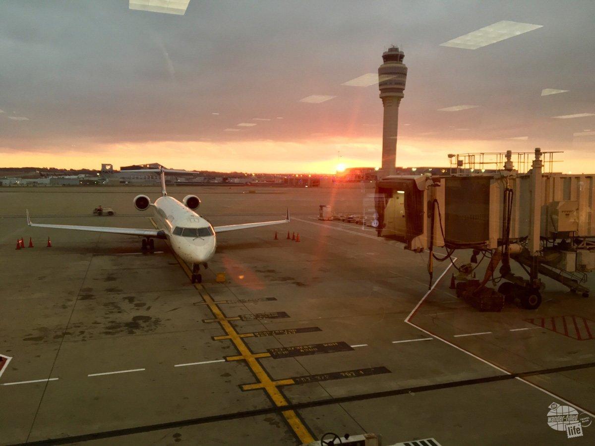 Sunrise at the Atlanta airport
