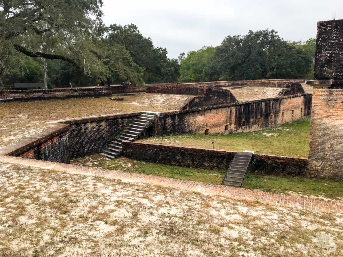 The Advanced Redoubt is a smaller fortification designed to protect Fort Barancas from land attack. We were lucky to get a tour, since a ranger had been bitten by a bat there a few days earlier.