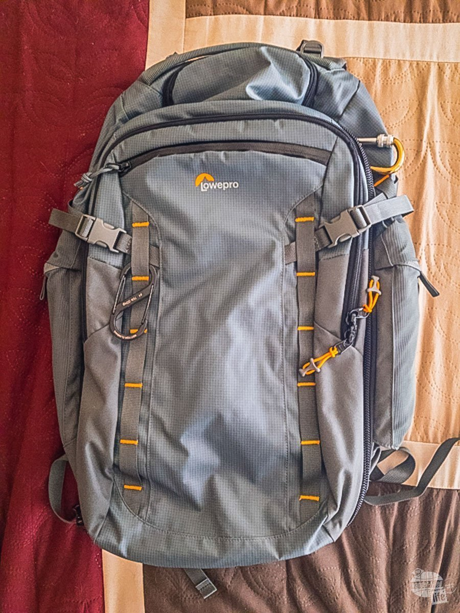 Grant's new pack is the Lowepro HighLine BP 400 AW.