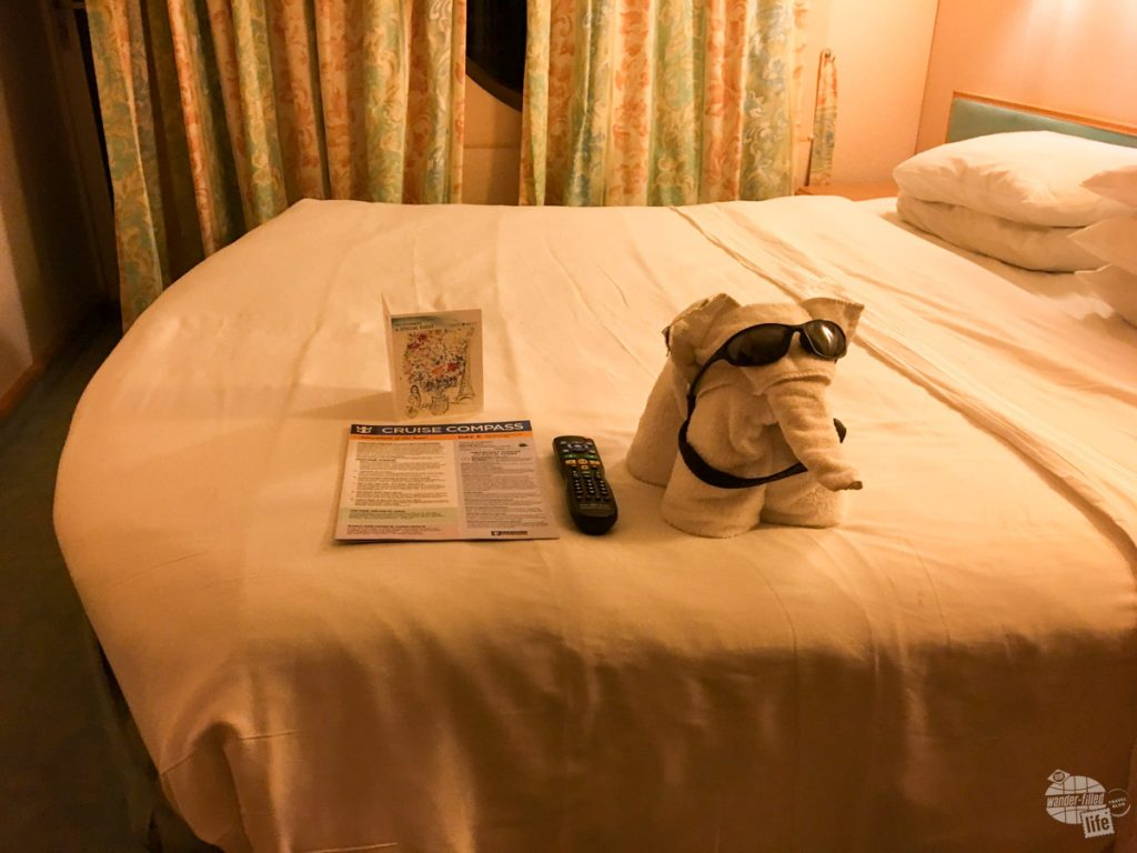 Towel animals are always fun!